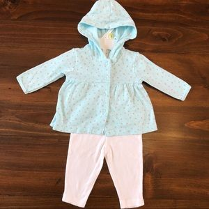 Carter's Baby Girl Button Down Outfit Set